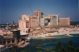 Photo of the unfinished Royal Tower in 1998
