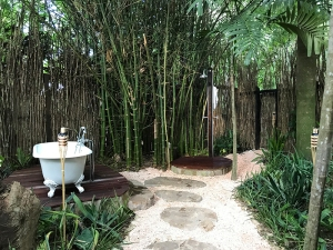 Outdoor spa treatment room at Goldeneye
